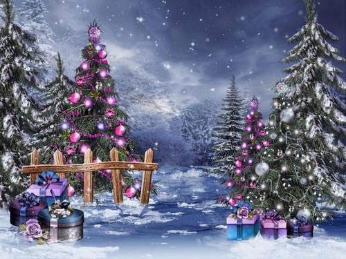 5D Diamond Painting Pink Christmas Ball Trees Kit