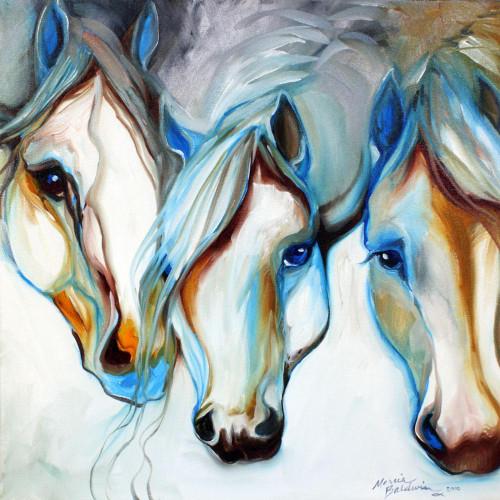 5D Diamond Painting Three Abstract Horses Kit