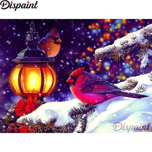 5D Diamond Painting Cardinal Christmas Kit