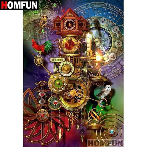 5D Diamond Painting Horoscope Cuckoo Clock Kit