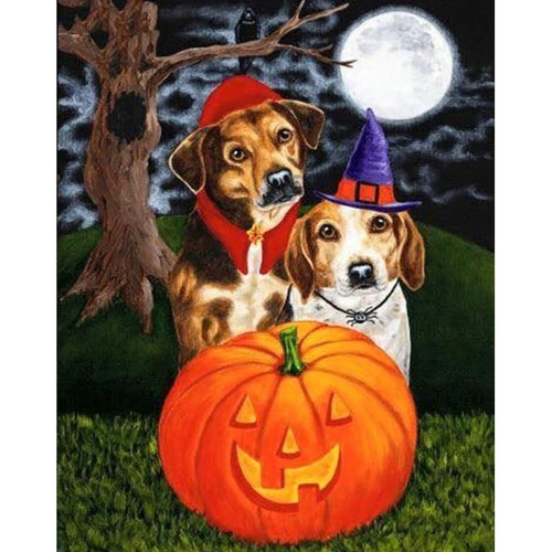 5D Diamond Painting Dogs in Costume Kit