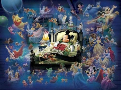 5D Diamond Painting Mickey Bedtime Stories Kit