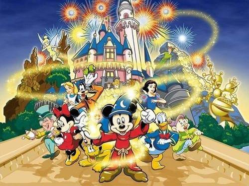5D Diamond Painting Swirling Magic Wizard Mickey Kit