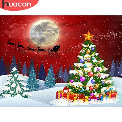 5D Diamond Painting Santa Moon Silhouette Kit