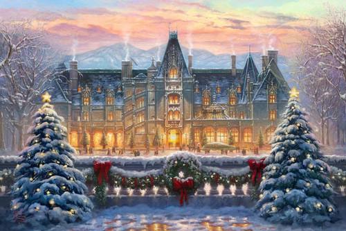 5D Diamond Painting Christmas Wreath Mansion Kit