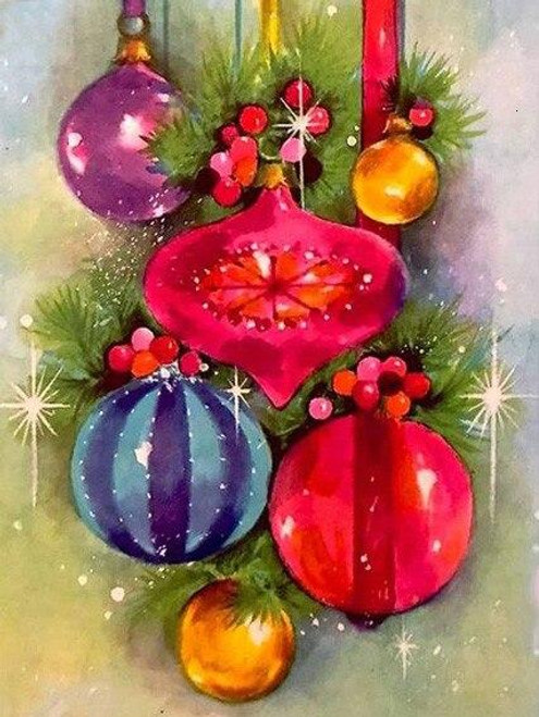 5D Diamond Painting Christmas Ball Ornaments Kit