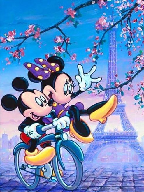 5D Diamond Painting Mickey and Minnie Eiffel Tower Kit
