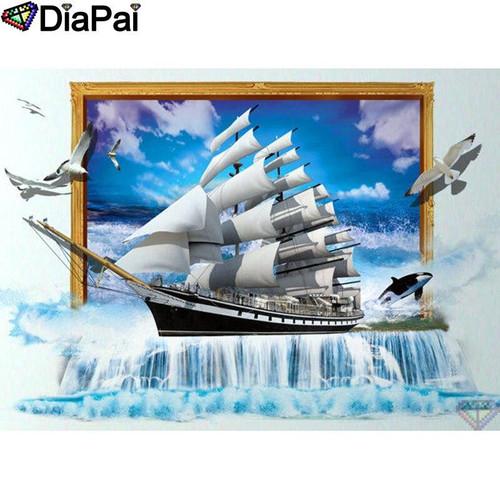 5D Diamond Painting Sailing Ship Picture Kit