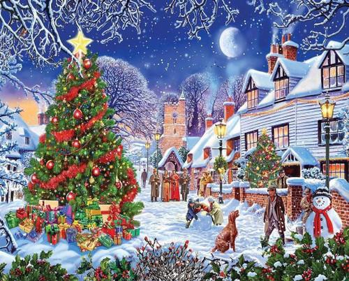 5D Diamond Painting Gold Star Christmas Tree Kit