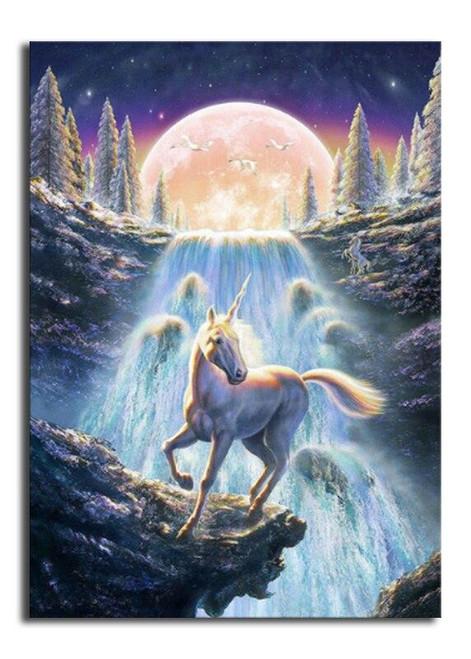 5D Diamond Painting Unicorn Waterfall Kit