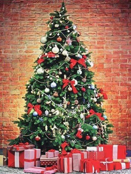 5D Diamond Painting Brick Wall Christmas Tree Kit