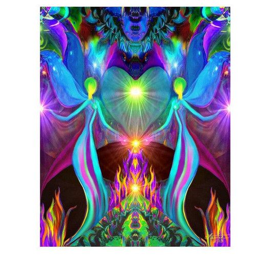 5D Diamond Painting Abstract Heart and Angels Kit