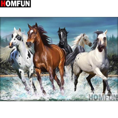 5D Diamond Painting Wild Mustangs Kit