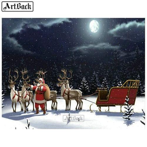 5D Diamond Painting Santa in the Moonlight Kit