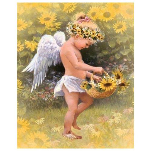 5D Diamond Painting Sunflower Angel Kit