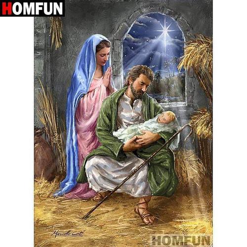 5D Diamond Painting Christmas Star Light Over Jesus Kit