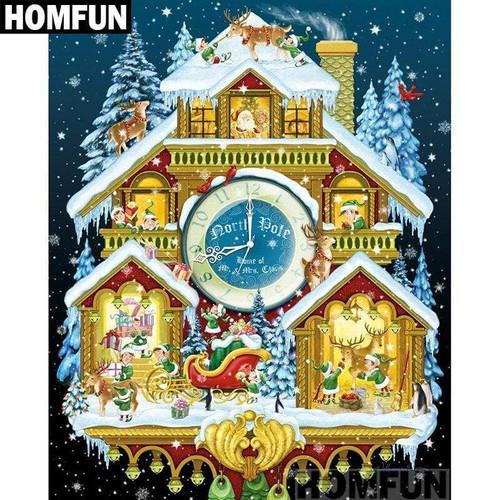 5D Diamond Painting Christmas Cuckoo Clock Kit