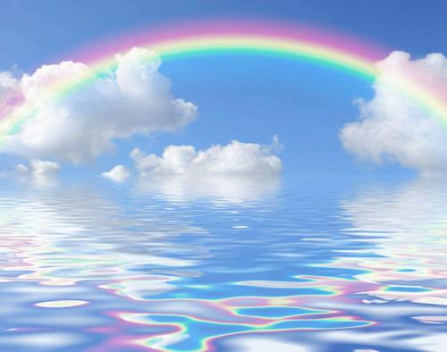 5D Diamond Painting Rainbow Over the Water Kit