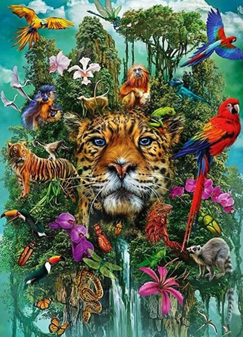 5D Diamond Painting Animals in the Jungle Collage Kit