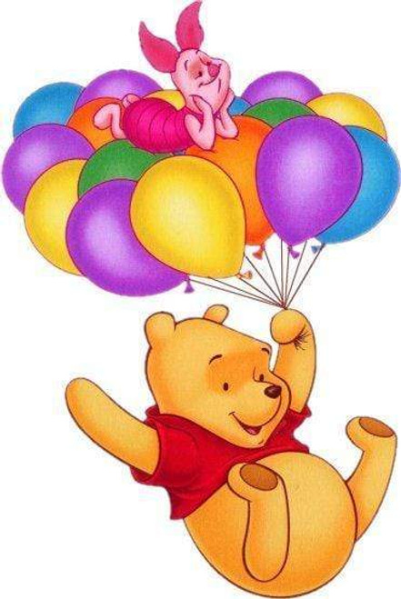 5D Diamond Painting Winnie the Pooh Balloons Kit