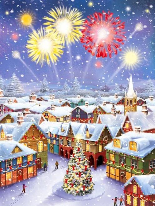 5D Diamond Painting Christmas Fireworks Kit