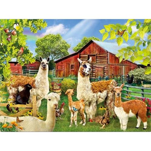 5D Diamond Painting Alpaca Farm Kit