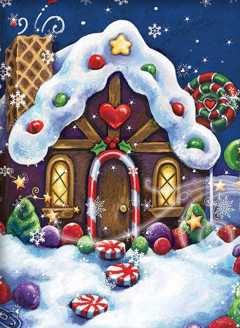 5D Diamond Painting Christmas Candy Cottage Kit