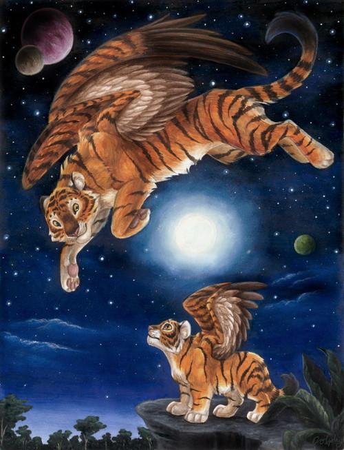 5D Diamond Painting Angel Tigers Kit