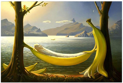 5D Diamond Painting Relaxing Banana People Kit