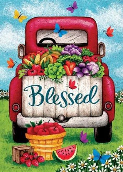 5D Diamond Painting Blessed Vegetable Truck Kit