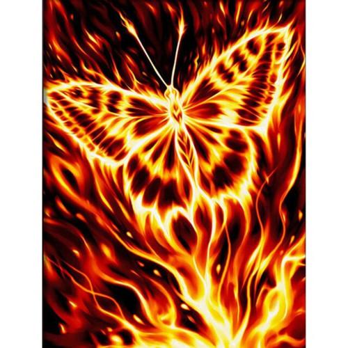 5D Diamond Painting Fire Butterfly Kit