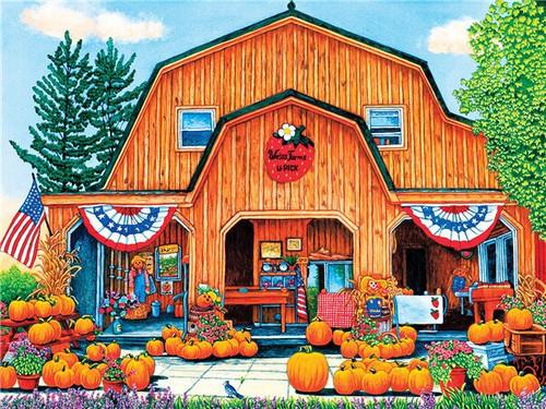 5D Diamond Painting U Pick Pumpkin Farm Kit