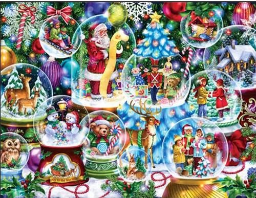5D Diamond Painting Christmas Snow Globes Kit