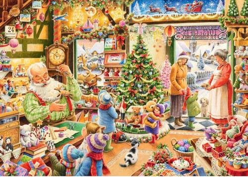5D Diamond Painting Christmas Shop Kit