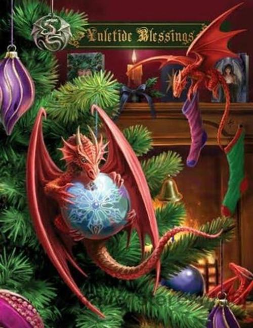 5D Diamond Painting Christmas Dragons Kit