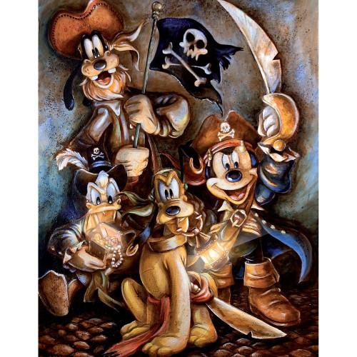 5D Diamond Painting Mickey Pirates Kit
