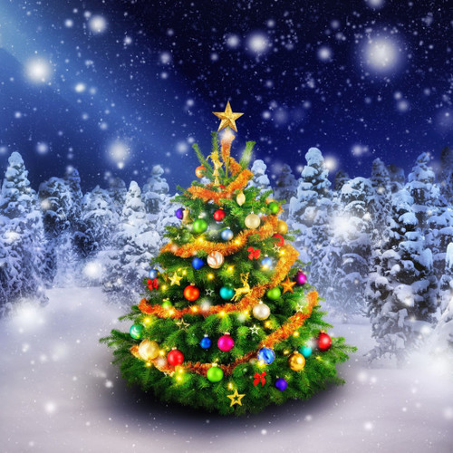 5D Diamond Painting Beautiful Christmas Tree Kit