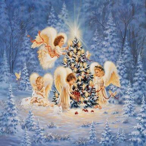 5D Diamond Painting Christmas Angels Kit