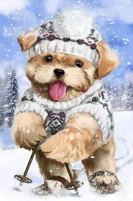 5D Diamond Painting Snow Puppy Kit