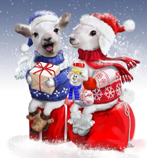 5D Diamond Painting Christmas Sheep Kit
