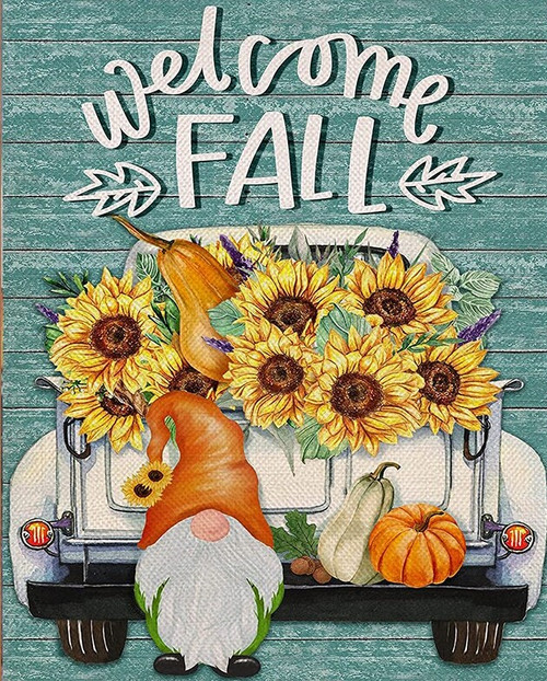 5D Diamond Painting Welcome Fall Gnome Kit