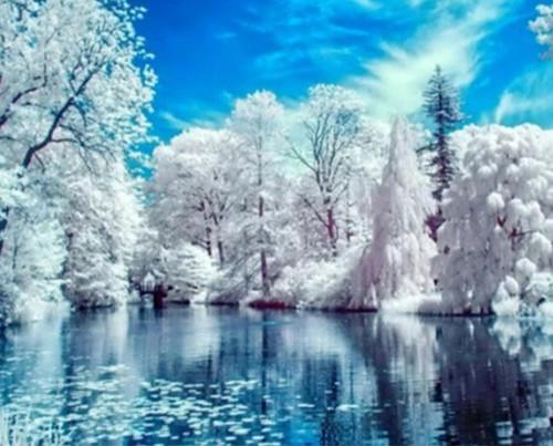 5D Diamond Painting Lake in Winter Kit