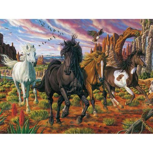 5D Diamond Painting Horses in the Desert Kit