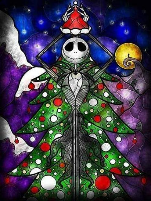 5D Diamond Painting Jack Skellington Christmas Tree Kit