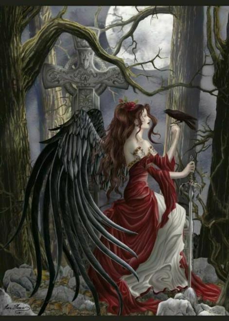 5D Diamond Painting Crow and Dark Wing Angel Kit