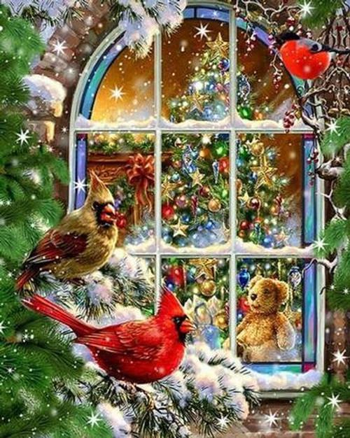 5D Diamond Painting Christmas Snow Birds Kit