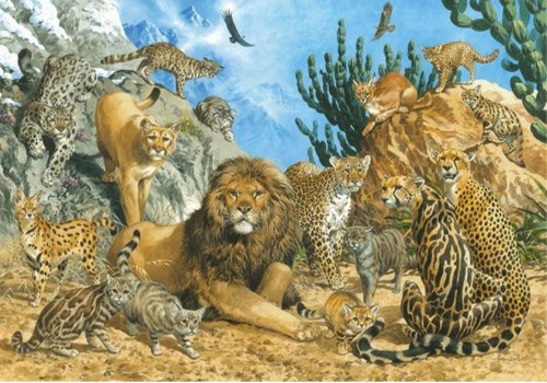 5D Diamond Painting Cats in the Wild Kit