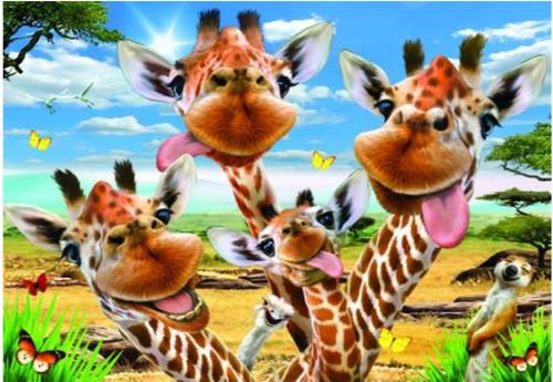 5D Diamond Painting Goofy Giraffes Kit