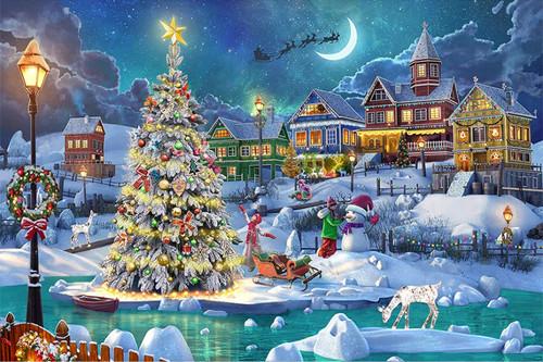 5D Diamond Painting Star Topped Christmas Tree Kit