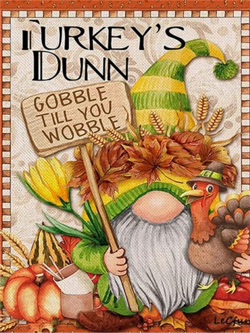 5D Diamond Painting Gobble Til you Wobble Gnome Kit